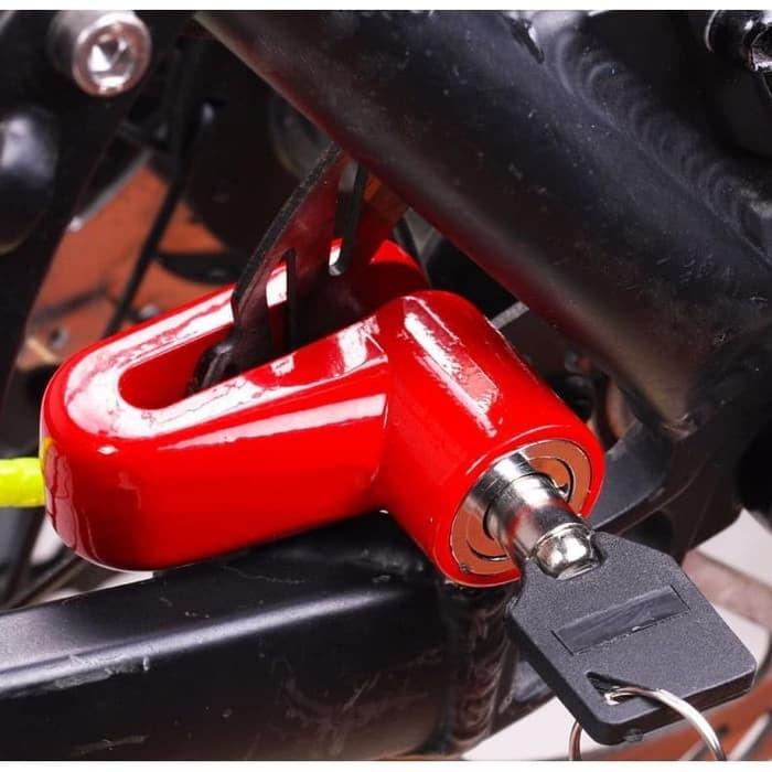 Foto Produk Kunci Gembok Rem Cakram Motor Dan Sepeda dari AnerStore