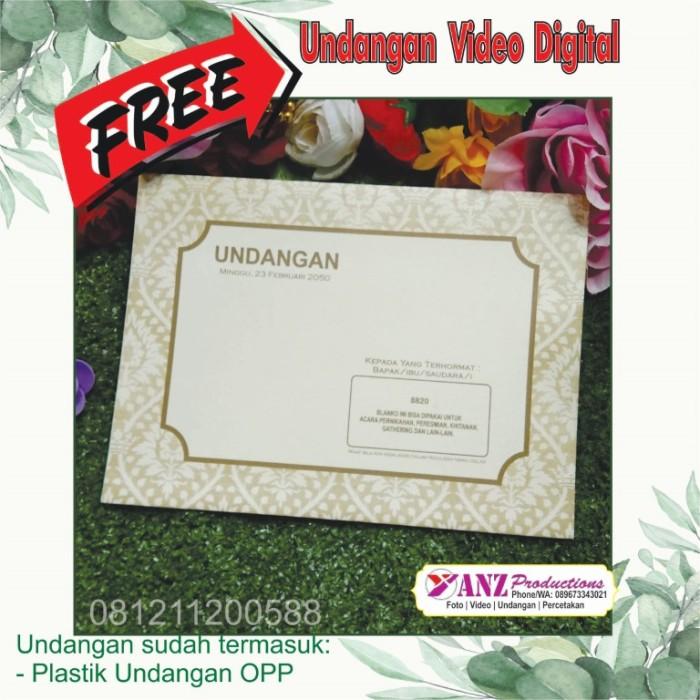 Jual Kartu Undangan Pernikahan Undangan Khitanan Erba 8820 Cetak Kab Tangerang Yanz Productions Tokopedia
