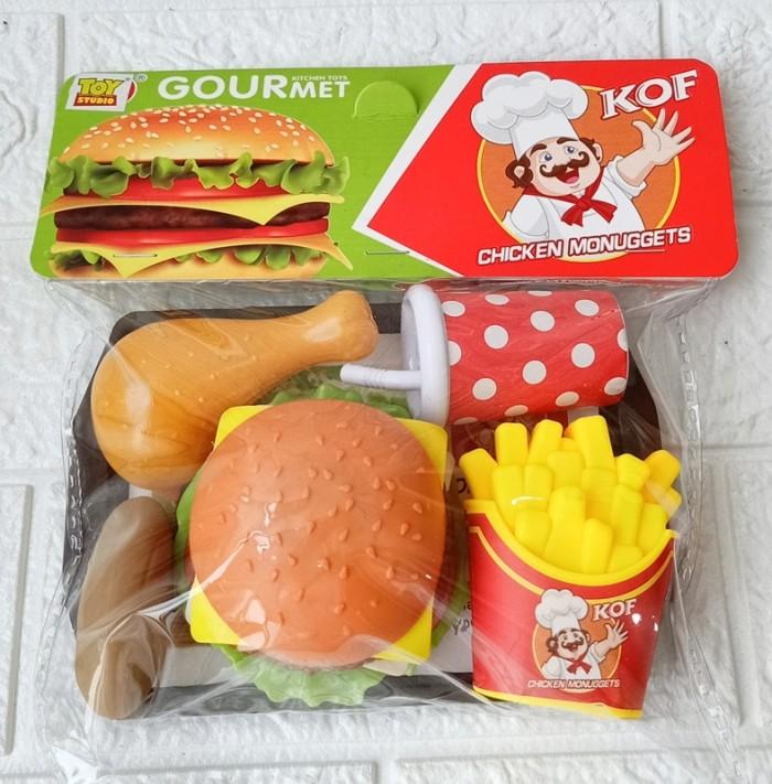 Foto Produk Mainan Burger Hot Dog Nampan 186AB Mainan Masakan dari ANEKA MAINAN ONLINE