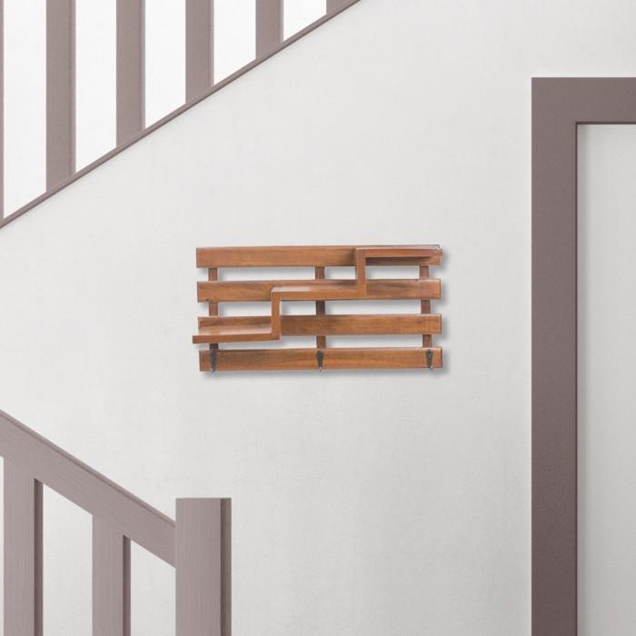 Foto Produk Ambun | rak gantungan dinding kayu unik vintage shabby dekorasi hiasan dari Mendekor