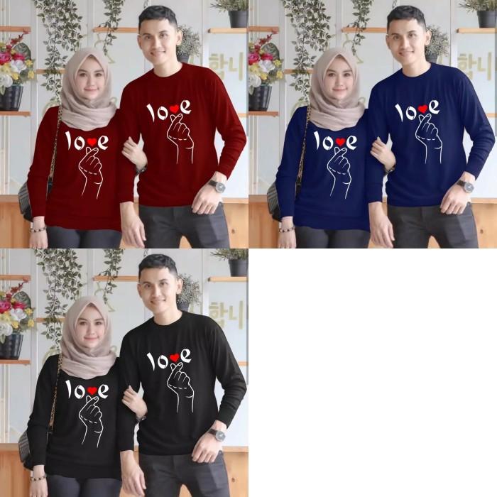 Foto Produk Sweater Couple LP Love Saranghae dari Wallsticker shop