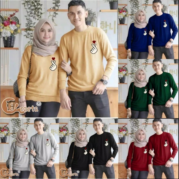 Foto Produk Sweater Couple LP New Saranghae dari Wallsticker shop