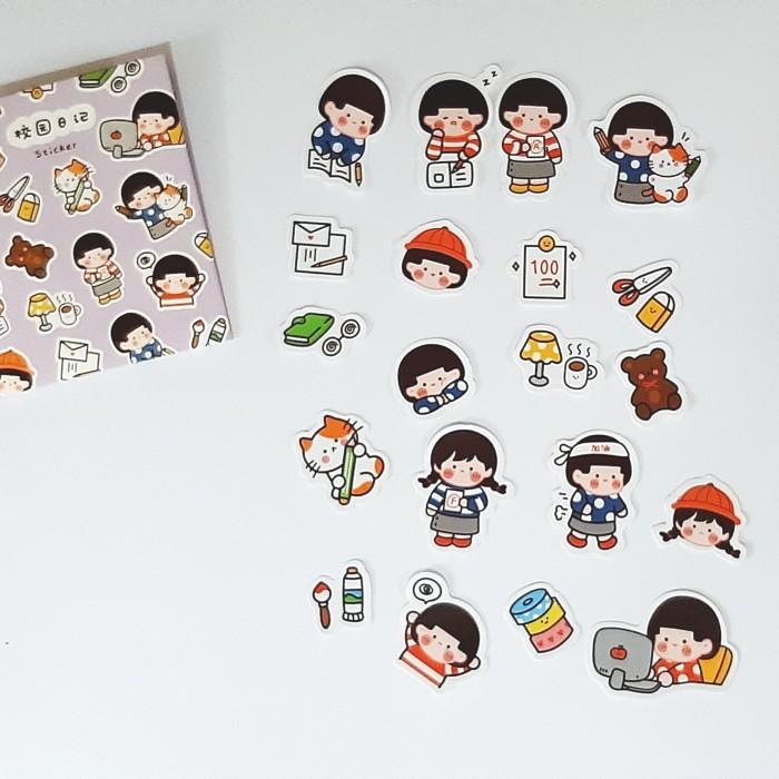 Foto Produk Sticker Set Study Cute | Planner Bullet Journal Scrapbook Deco dari The Book ID
