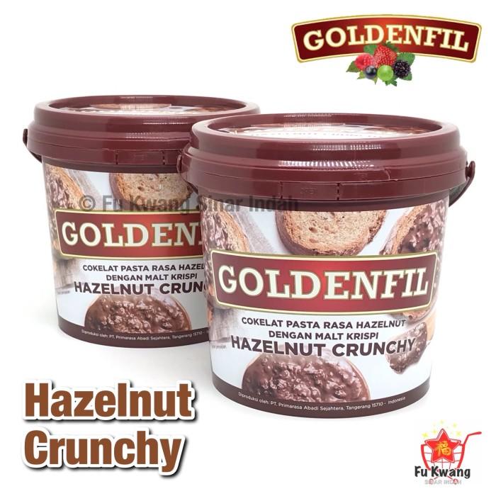 Foto Produk Goldenfil Hazelnut Crunchy Spread Selai Olesan Renyah 1 kg dari Fu Kwang Mart