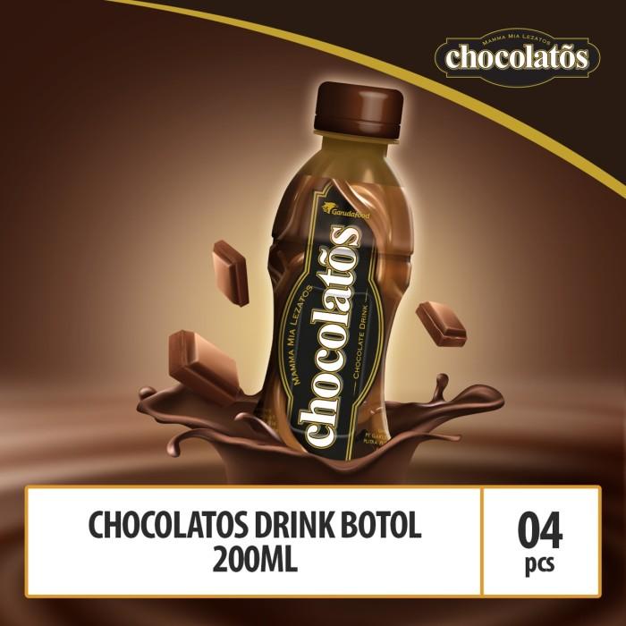 Foto Produk CHOCOLATOS DRINK RTD Kemasan Botol - 200 ml (ISI 4 BOTOL - BRINK2) dari GarudaFood