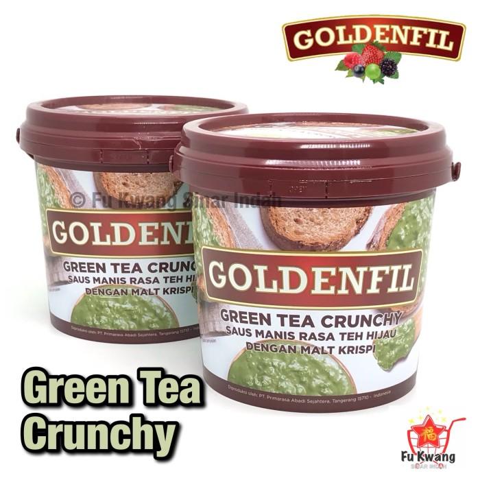 Foto Produk Goldenfil Green Tea Crunchy Spread Selai Olesan Renyah 1 kg dari Fu Kwang Mart