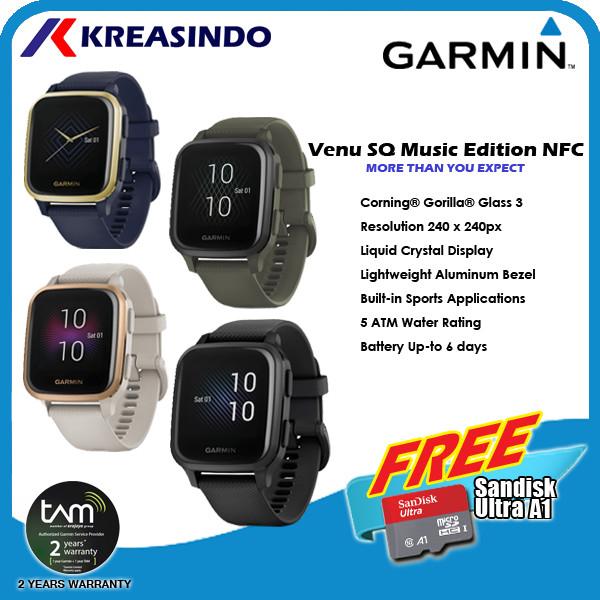 Foto Produk Garmin Venu SQ / Venu Square Music Edition NFC Garansi Resmi TAM - Navy Gold dari Kreasindo Online