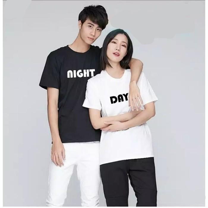 Foto Produk Kaos Couple Night Day M L XL dari Wallsticker shop