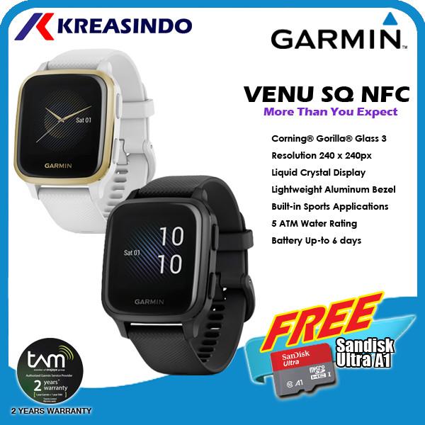 Foto Produk Garmin Venu SQ / Venu Square NFC Garansi Resmi TAM - Shadow Gray dari Kreasindo Online