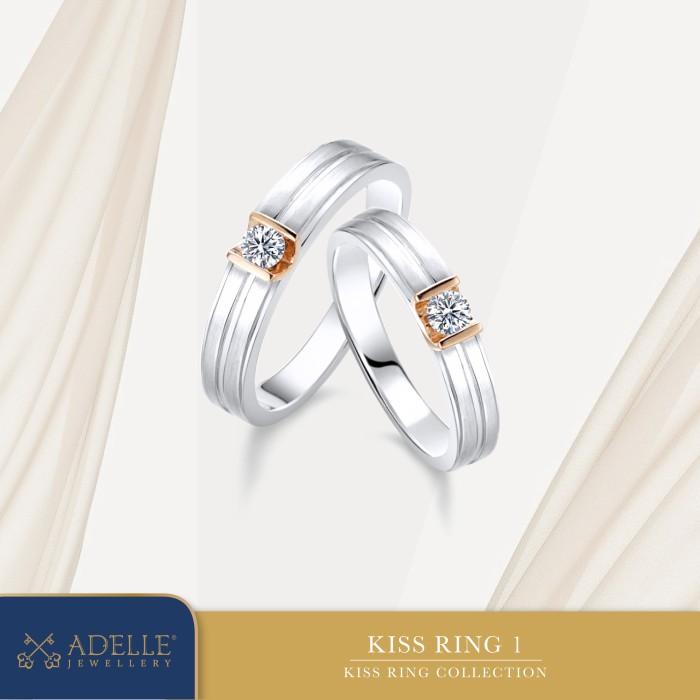 Foto Produk Adelle Jewellery - Kiss Wedding Ring 1 - Cincin Pernikahan dari Adelle Jewellery