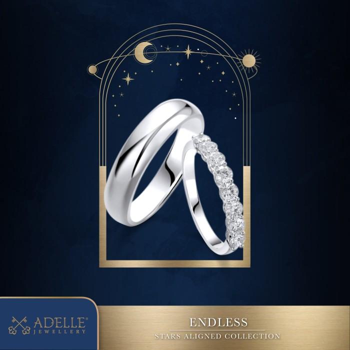 Foto Produk Adelle Jewellery Endless Wedding Ring - Cincin Pernikahan - White Gold dari Adelle Jewellery