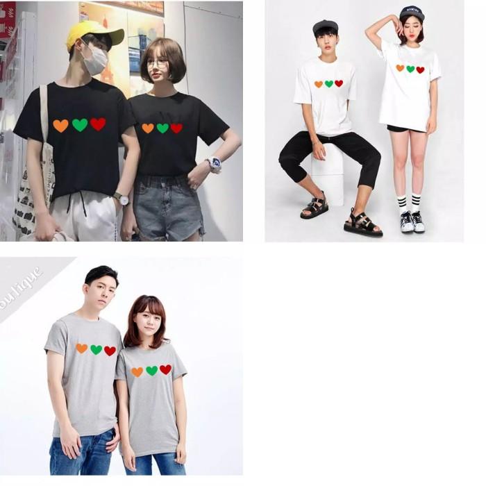 Foto Produk Kaos Couple Triple Love M L XL dari Wallsticker shop