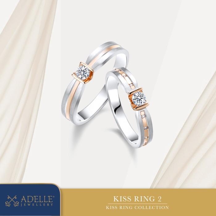 Foto Produk Adelle Jewellery - Kiss Wedding Ring 2 - Cincin Pernikahan dari Adelle Jewellery