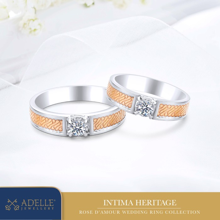 Foto Produk Adelle Jewellery - Rose D'Amour - Intima Heritage - Cincin Pernikahan dari Adelle Jewellery