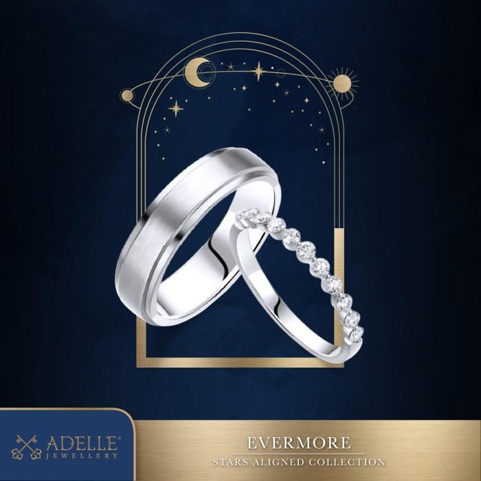Foto Produk Cincin Pernikahan - Wedding Ring Adelle Jewellery - Evermore Listring - White Gold dari Adelle Jewellery