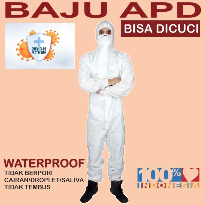 Foto Produk Baju APD Hazmat suit anti virus ( bisa dicuci ) bahan pvc waterproof dari Babyliss Master