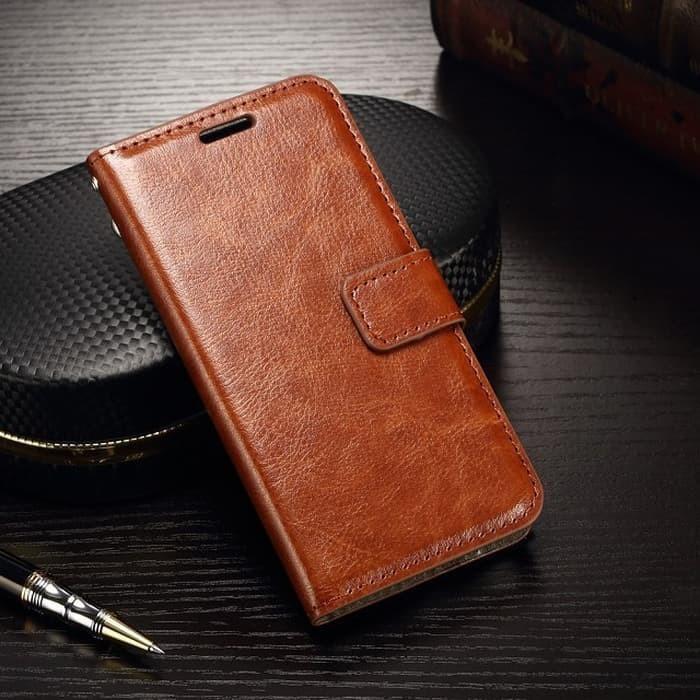 Foto Produk Samsung A21 flip wallet leather - Hitam dari importking
