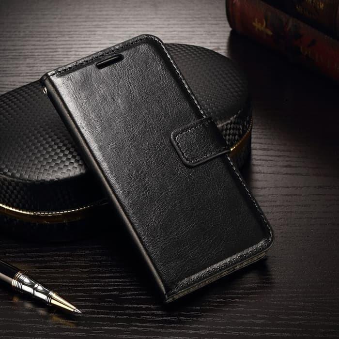 Foto Produk Samsung A21s flip wallet leather - Hitam dari importking