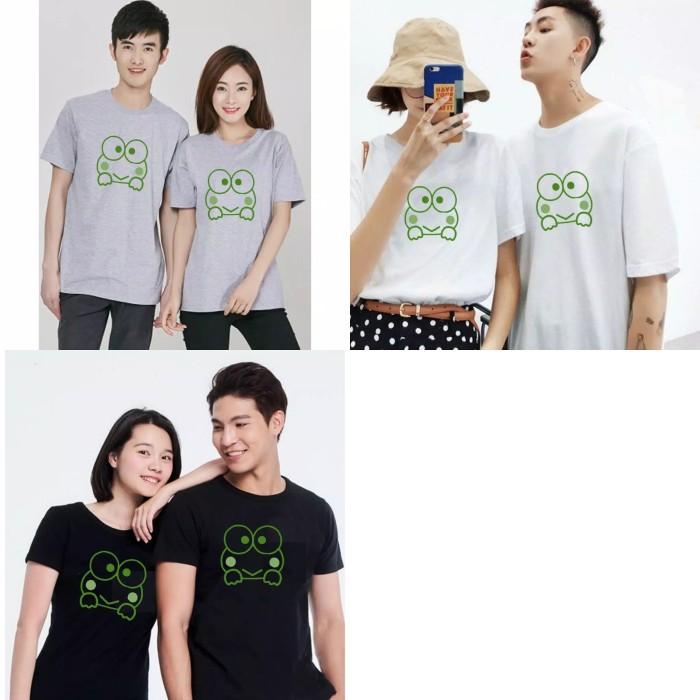 Foto Produk Kaos Couple Keroppi M L XL dari Wallsticker shop