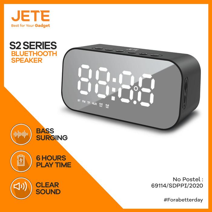 Foto Produk Speaker JETE S2 Bluetooth V5.0 Stereo Sound with Alarm Clock dari JETE Official Surabaya