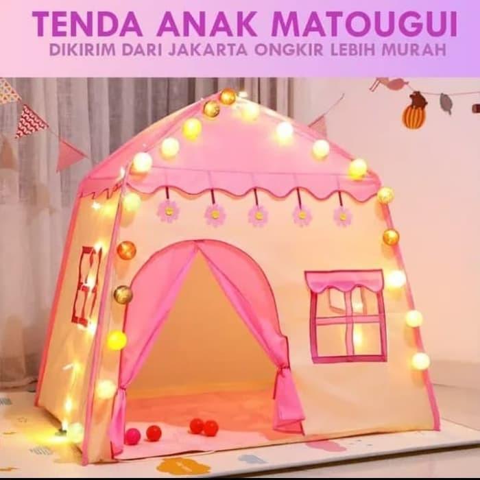 Foto Produk Tenda Anak Rumah Princess PINK RS66 Tenda Bermain Princess Castle dari ANEKA MAINAN ONLINE