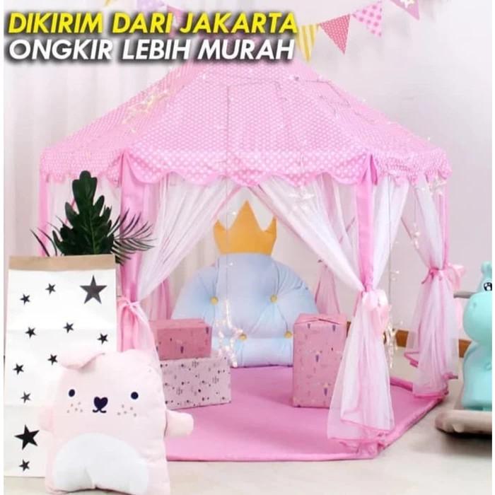 Foto Produk Tenda Anak Princess Castle Jumbo - PINK RS06 TENDA 6 SUDUT dari ANEKA MAINAN ONLINE