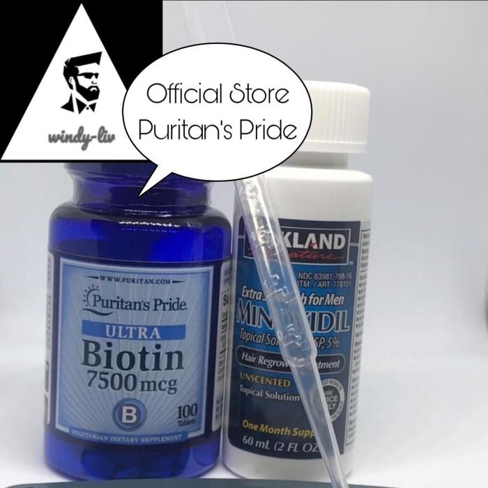 Foto Produk Kirkland Minoxidil 5%+Biotin 7500mcg isi 100 tablet (paket 1 bulan) dari Windy-Liv