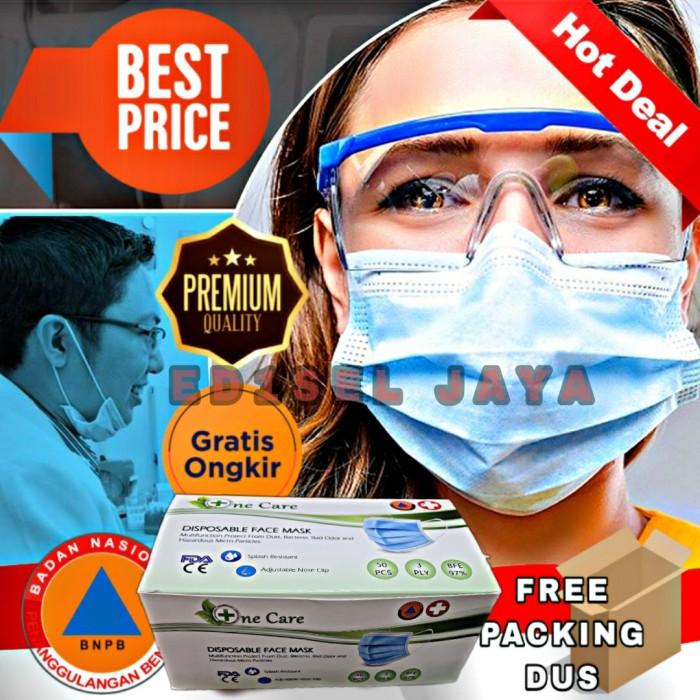 Foto Produk Masker 3ply isi 50 masker medis bedah masker kesehatan 3 ply face mask dari EDISEL JAYA