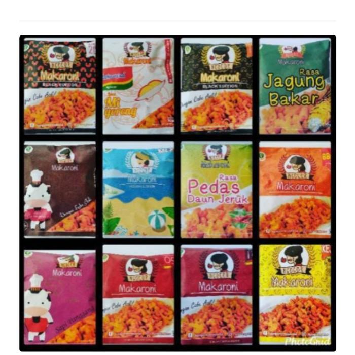 Jual makaroni ngocor snack level 3, 5, 10, 15, Barbeque ...