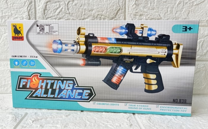 Foto Produk Mainan Pistol Anak Lampu SUARA NO.838 dari ANEKA MAINAN ONLINE