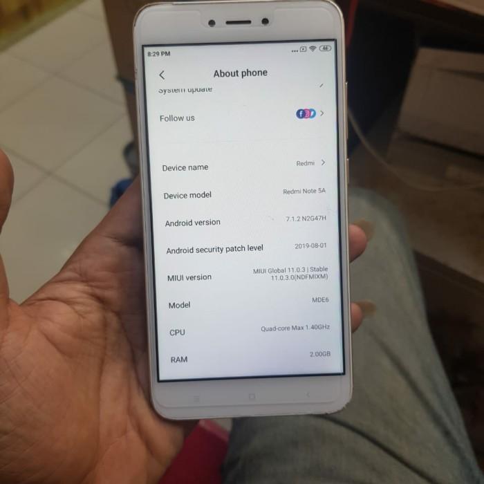 Foto Produk Xiaomi Redmi NOTE 5A rom 2 internal 16 2/16 - Kuning dari faqilla cell