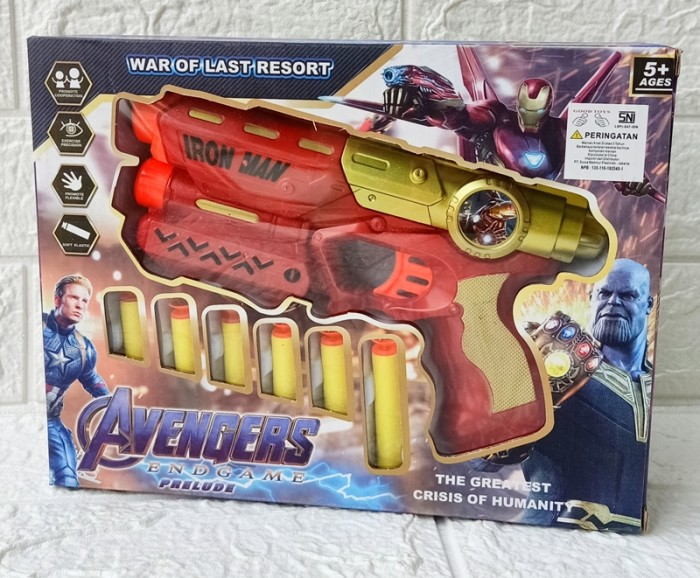 Foto Produk Soft Bullet Blaster Avenger Mainan Pistol Senjata Anak No. A928 dari ANEKA MAINAN ONLINE