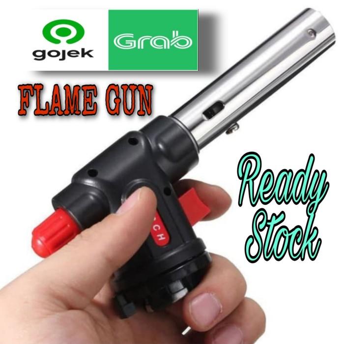 Foto Produk Portable Kepala Gas Torch Korek BBQ Blow Torch Flame Gun 504 dari GG outlet