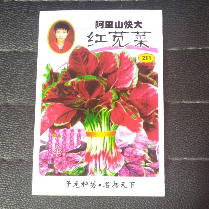 Foto Produk Biji benih bibit sayur bayam belang merah dari Biji Benih