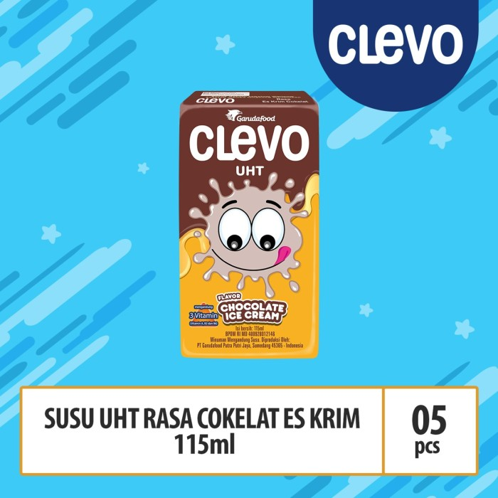 Foto Produk Clevo UHT Rs Ice Cream Cklt - 125ml (SUC05) dari GarudaFood