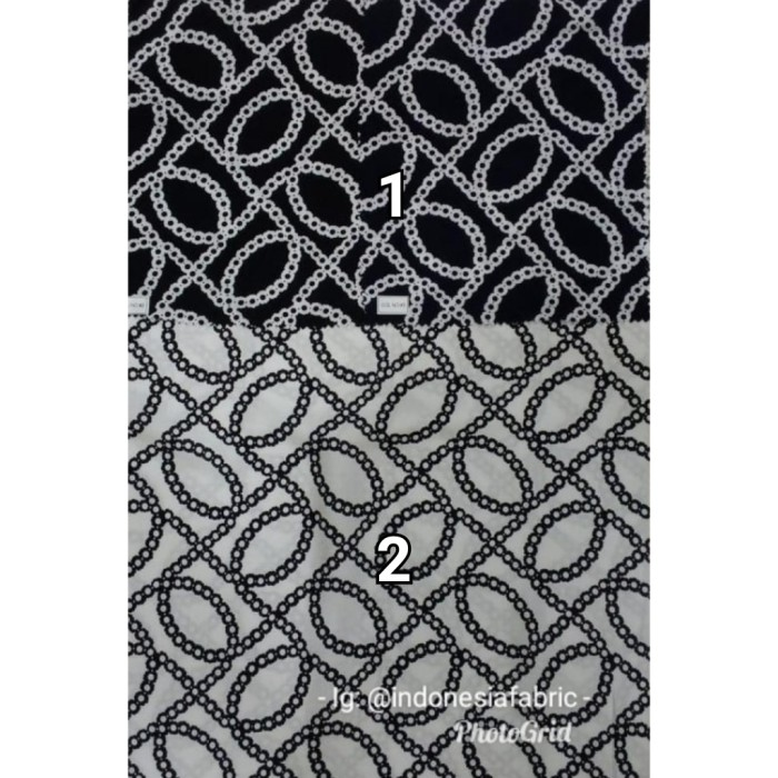 Foto Produk Kain Bahan Daster Homedress Gamis Kain rayon motif Monochrome 2 dari Toko Kain Grosir