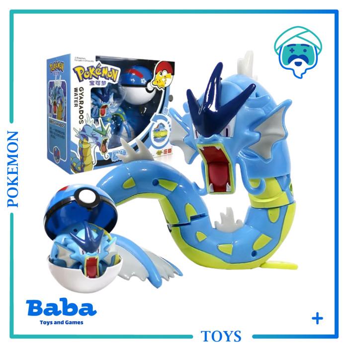 Foto Produk Mainan Anak Pokemon Pokeball Deformation Toy Gyarados Original New dari Baba Mainan