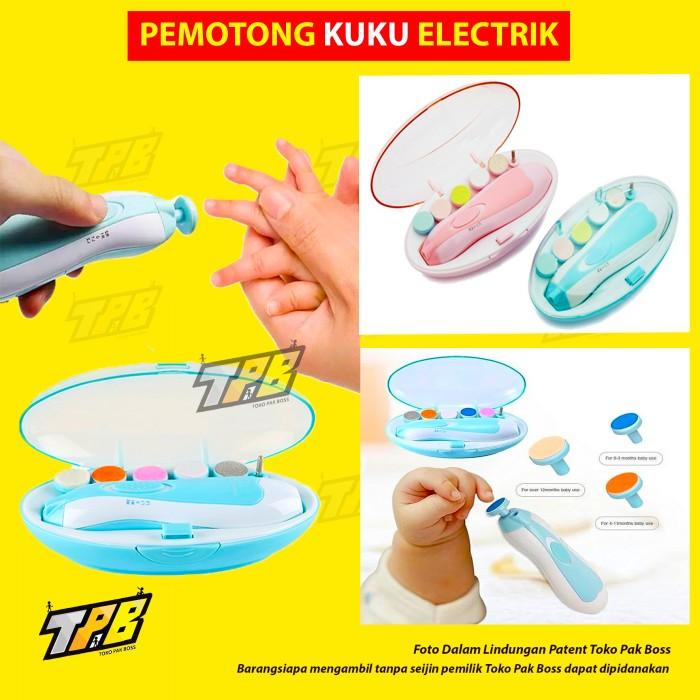 Foto Produk Baby Set nail Trimmer Pedicure Gunting Kuku Bayi Elektrik 6in1 Shower - Pink dari TOKO PAK BOSS