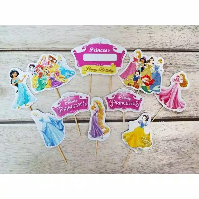 Foto Produk satu set topper toper cake hiasan kue ulang tahun karakter princess dari recht shop