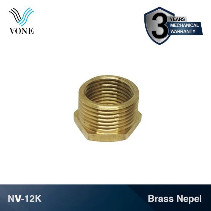 "Foto Produk VONE NV-12K Nepel Volk Ring 3/4"" M x 1/2"" F Sok Keran Kran Kuningan dari Vone Sanitary Indonesia"