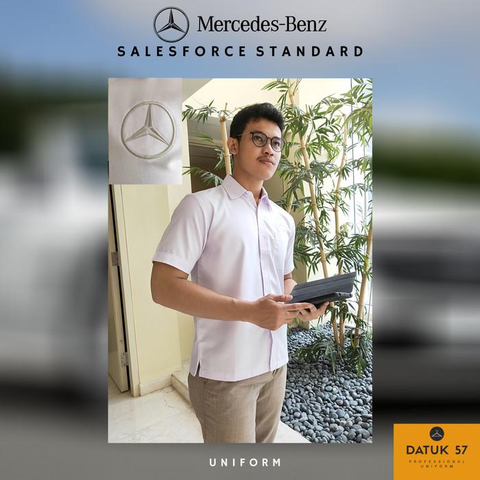Foto Produk Seragam Kemeja Mercedes-Benz Mercy Putih White Bright (Pria) - Putih, S dari Datuk Collection