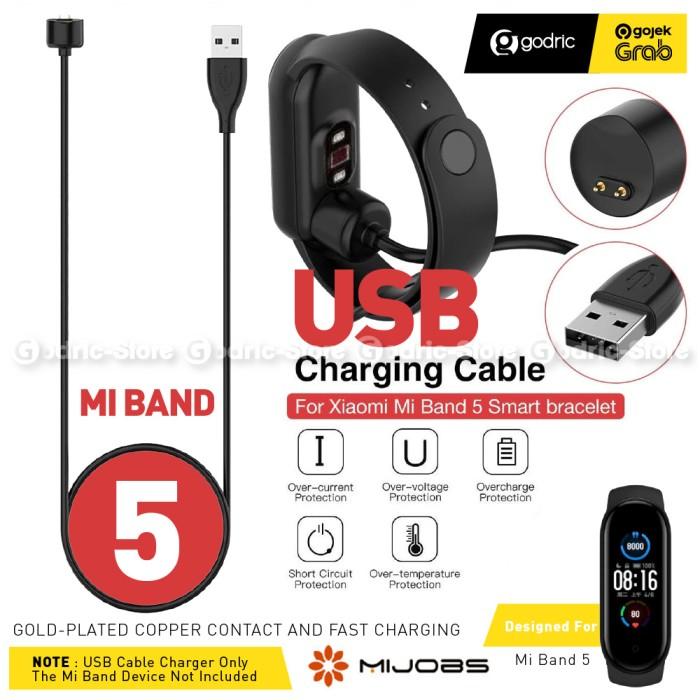 Foto Produk MIJOBS Magnetic Charger Kabel USB for Xiaomi Mi Band 5 Miband 5 dari Godric Store