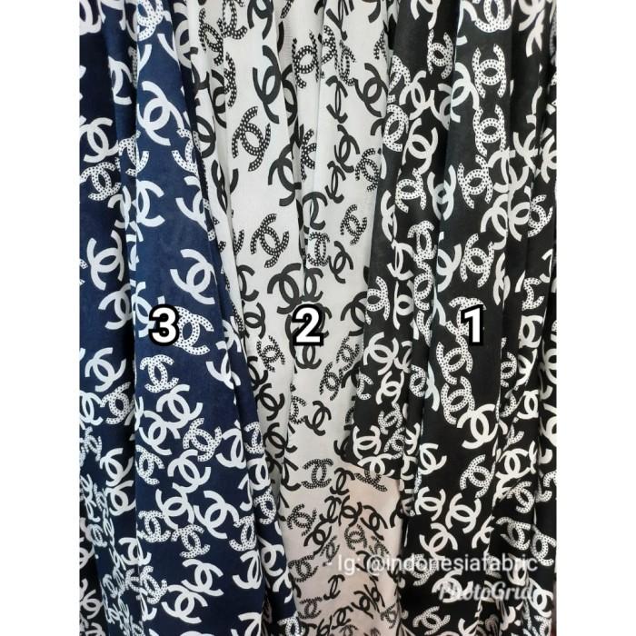 Foto Produk Kain Bahan Daster Homedress Gamis Kain rayon motif Chanel dari Toko Kain Grosir