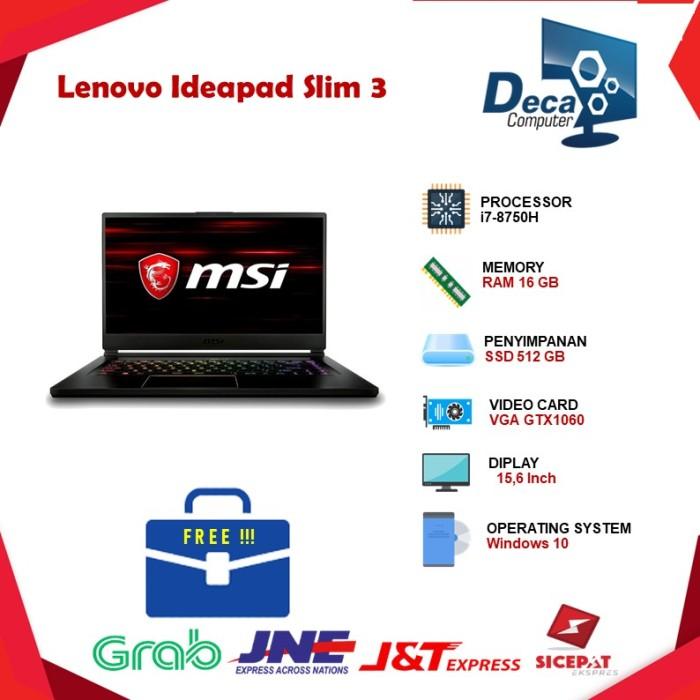 "Foto Produk LAPTOP MSI GS65 8RE i7-8750H 16GB 256GB GTX1060 WIN10 15,6""144Hz dari Deca Computer"