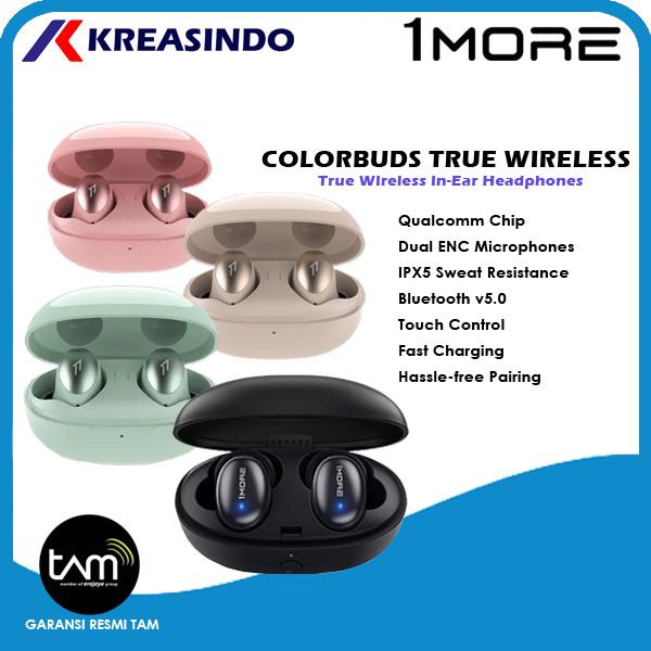 Foto Produk 1More Colorbuds True Wireless In Ear Headphones Garansi Resmi TAM - Hitam dari Kreasindo Online