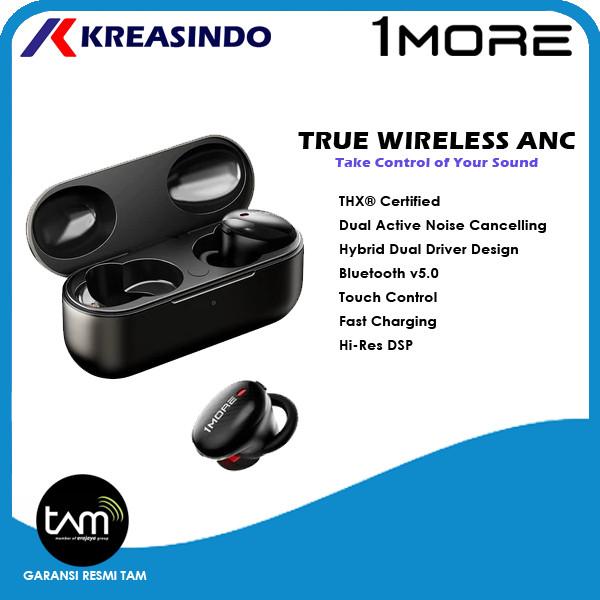 Foto Produk 1More True Wireless ANC In Ear Headphones Earphone Garansi Resmi TAM - Hitam dari Kreasindo Online