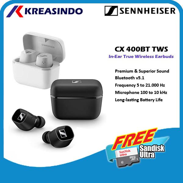 Foto Produk Sennheiser CX400BT CX 400BT TWS True Wireless Earphones Garansi Resmi - Hitam dari Kreasindo Online