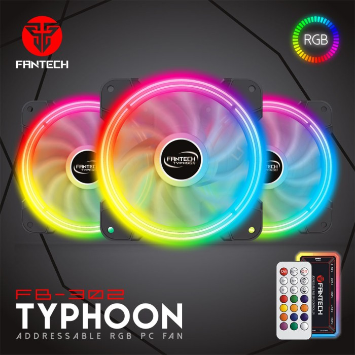 Foto Produk Fan Casing Fantech Typhoon FB-302 RGB dari ELITUS GAMING