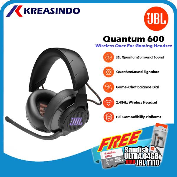 Foto Produk JBL Quantum 600 / Q600 Wireless Gaming Headset Headphone Garansi Resmi - Hitam dari Kreasindo Online