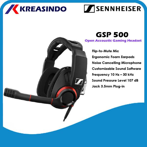 Foto Produk Sennheiser GSP500 / GSP 500 Gaming Headset Open Acoustic Garansi Resmi dari Kreasindo Online